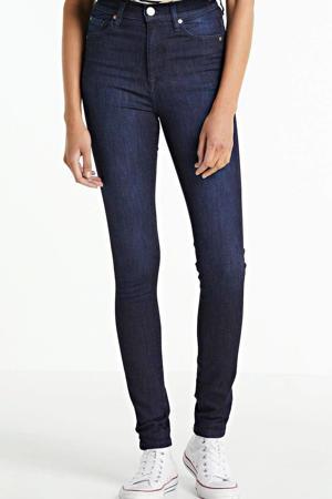 high waist skinny jeans dark denim