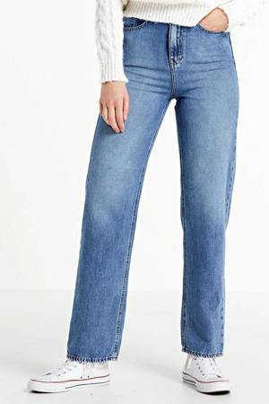 high waist straight fit jeans Coco medium blue