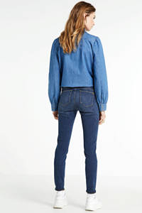 Yellow Blue Denim mid waist super skinny jeans Yuliya medium blue, Medium blue