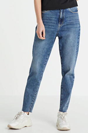high waist tapered fit jeans lichtblauw