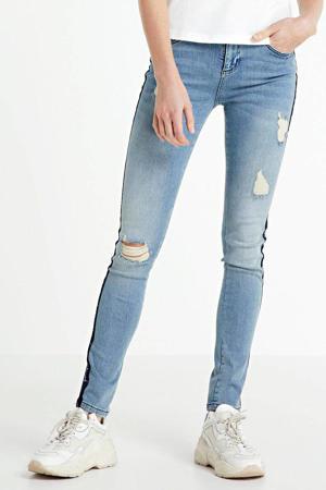 low waist skinny jeans met logo marine