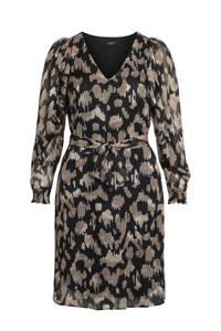 SisterS Point jurk met all over print en glitters zwart/goud, Zwart/goud