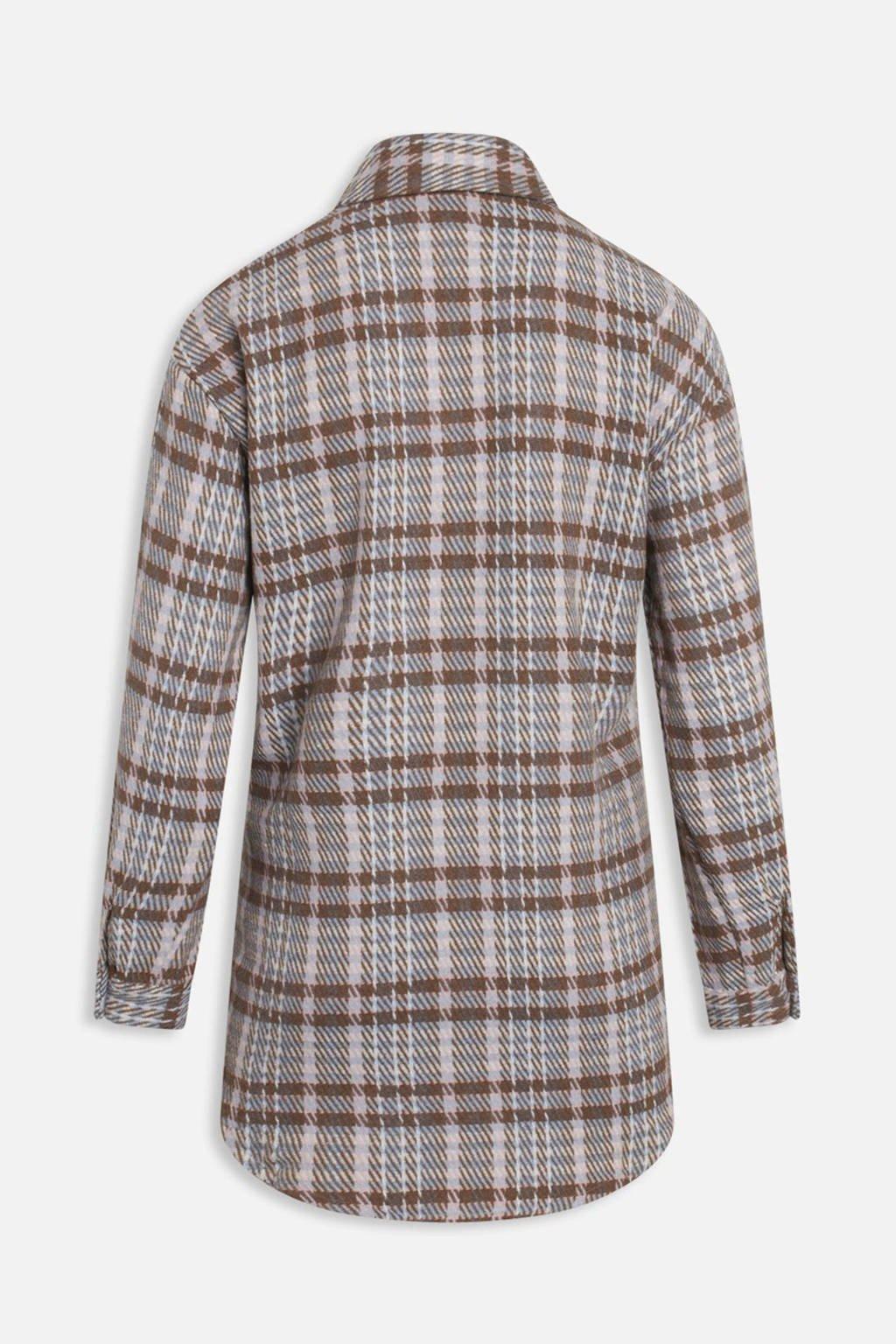 SisterS Point geruite blouse beige/bruin, Beige/bruin