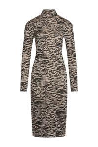 SisterS Point jurk met all over print zwart/roze/zand