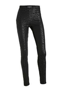 SisterS Point legging met panterprint zwart, Zwart