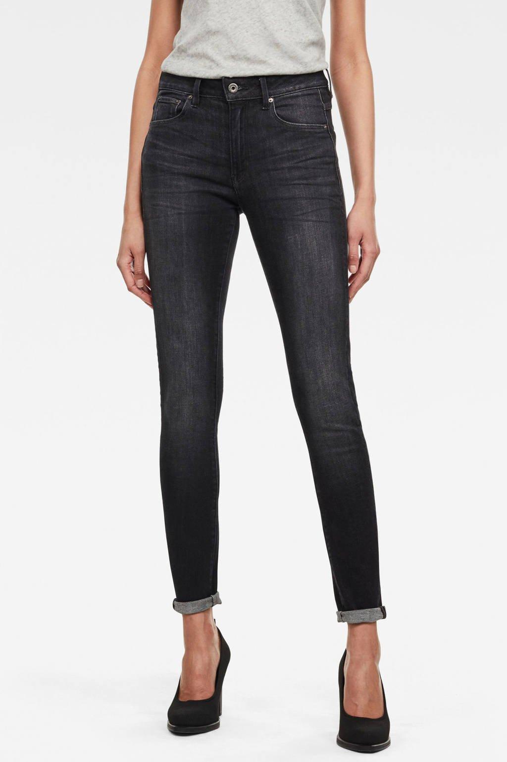 G-Star RAW 3301 High Skinny Wmn skinny jeans donkergrijs, Donkergrijs