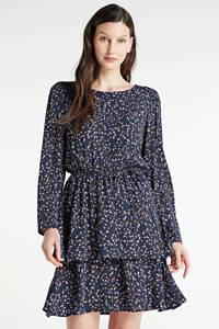 MSCH Copenhagen gebloemde jurk Berthe Jalina donkerblauw, Donkerblauw