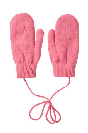 gebreide handschoenen roze