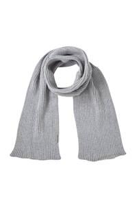 Sarlini gebreide sjaal grijs melange, Grijs melange