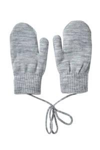 Sarlini gebreide handschoenen grijs melange, Grijs melange