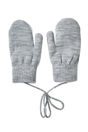 gebreide handschoenen grijs melange