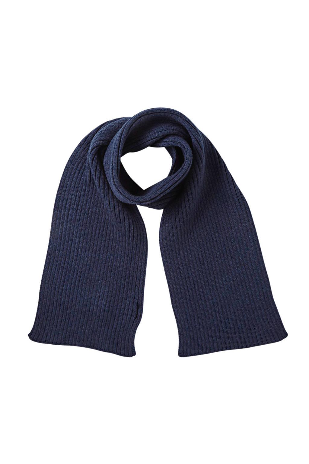 Sarlini gebreide sjaal donkerblauw, Donkerblauw