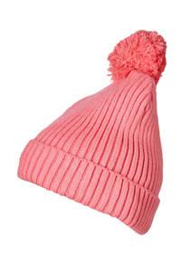 Sarlini gebreide muts roze, Roze