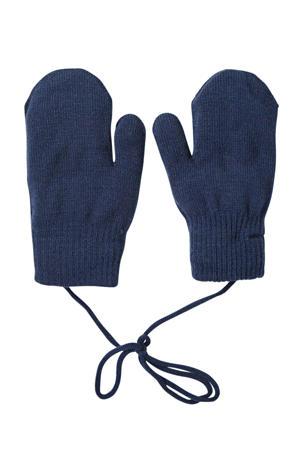 gebreide handschoenen donkerblauw