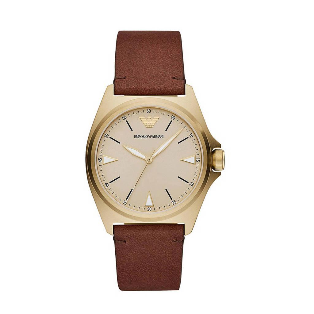 Emporio Armani horloge AR11331 Emporio Armani goud, Bruin