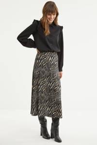 SisterS Point rok met zebraprint black/bamboo, Black/bamboo