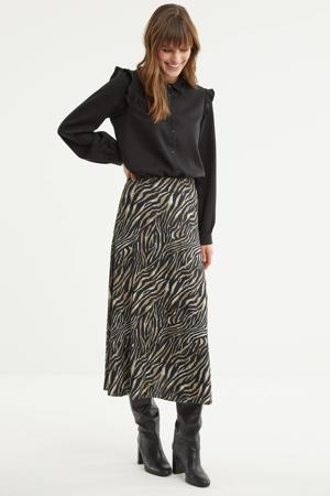 rok met zebraprint black/bamboo