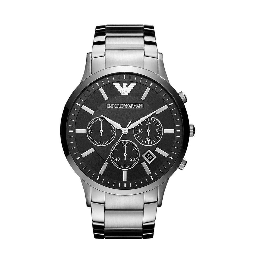 Emporio Armani horloge AR2460 Emporio Armani zilver, Zilverkleurig