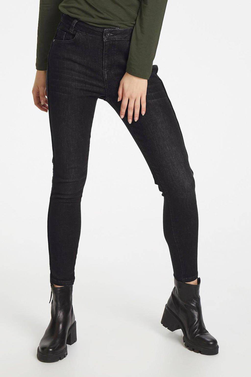 Denim Hunter high waist skinny jeans Monza black retro wash, Black Retro Wash