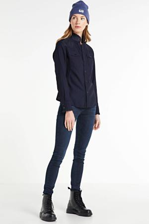 skinny jeans 32 THE CELINA LONG CUSTOM dark blue wash