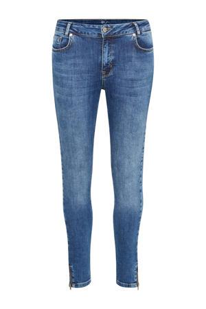 high waist slim fit jeans medium blue wash