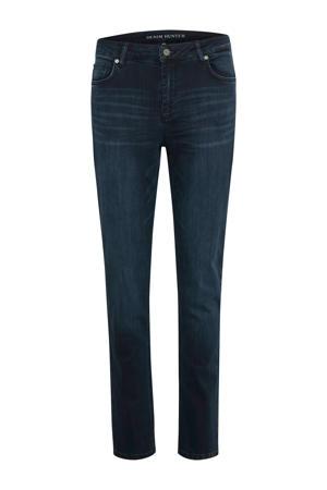 high waist straight fit jeans Celina dark blue wash