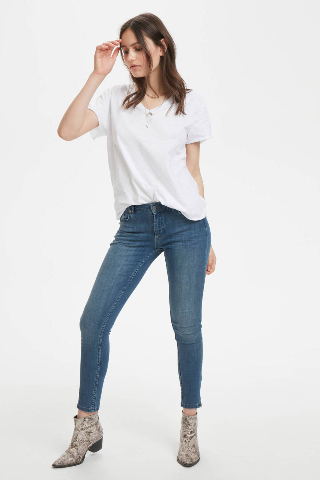 Denim Hunter regular fit T-shirt van biologisch katoen optical white