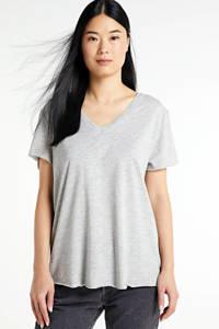 Denim Hunter gemêleerd T-shirt 08 THE VTEE met biologisch katoen titanium melange, Titanium Melange