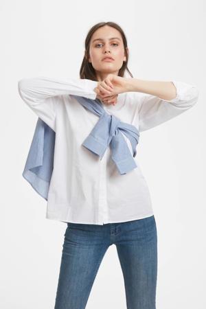 blouse met biologisch katoen optical white