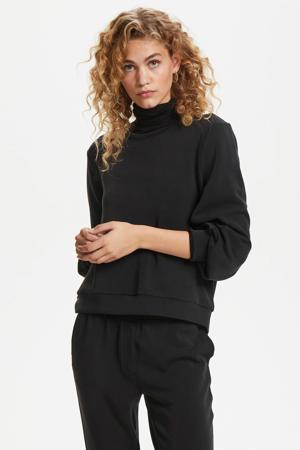 regular fit sweater zwart