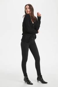 Denim Hunter gebreid regular fit vest met wol zwart, Zwart
