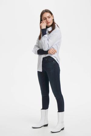 blouse met biologisch katoen striped light blue