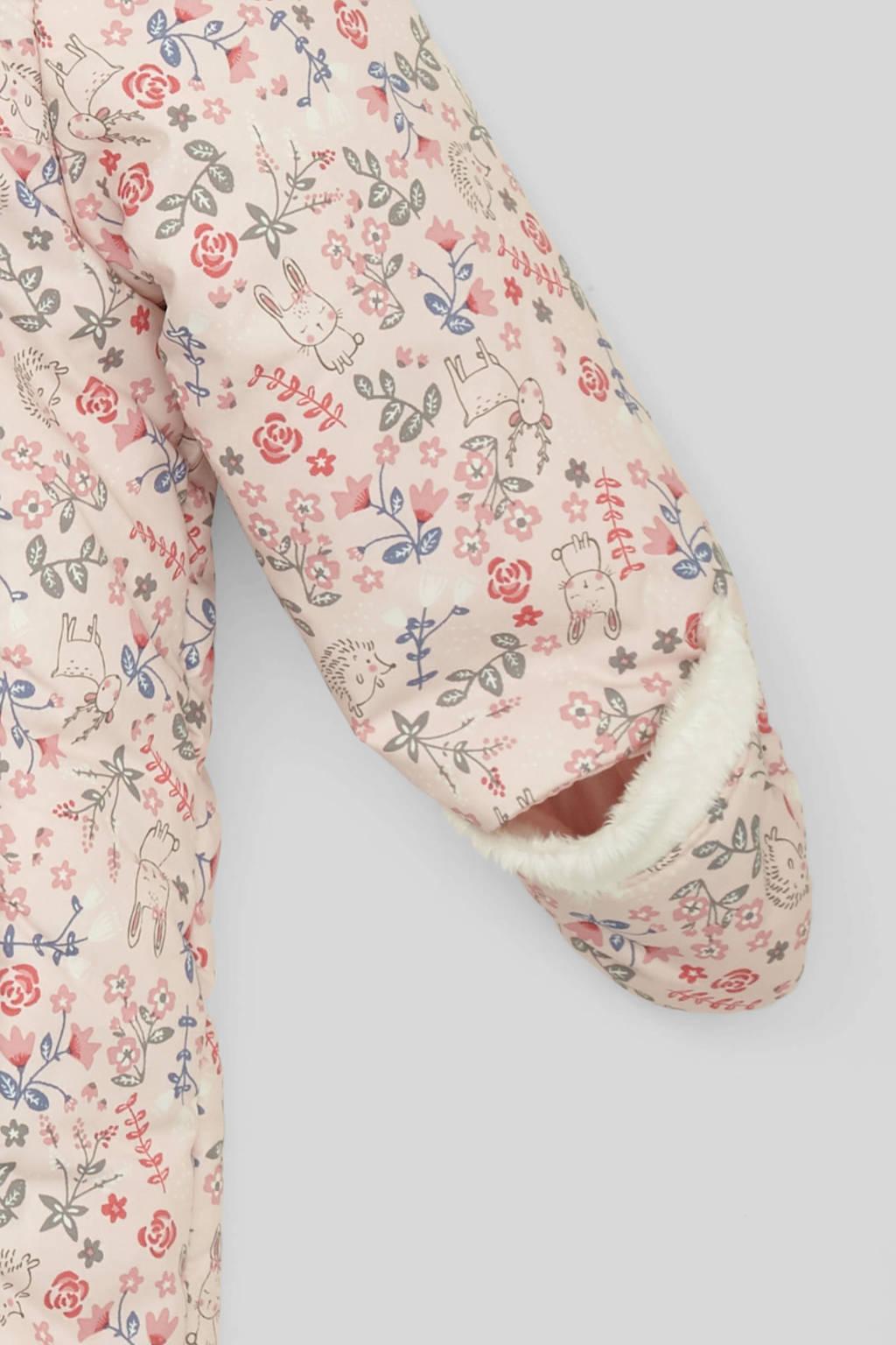 C&A Baby Club skipak met oortjes roze/wit, Roze