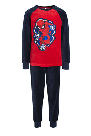 pyjama Spiderman donkerblauw/rood