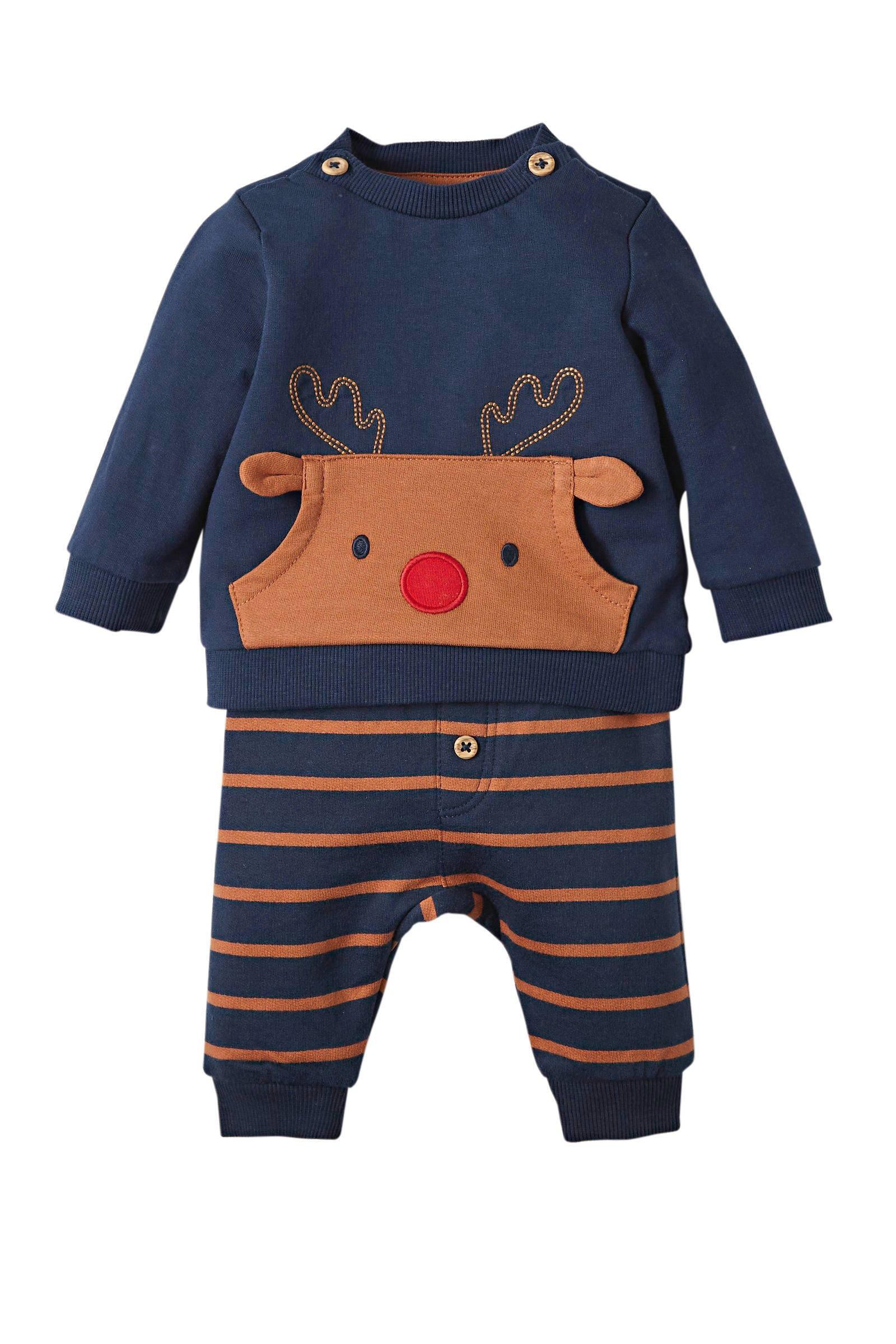 C&A Baby Club sweater set van 2 roodwitdonkerblauw   wehkamp