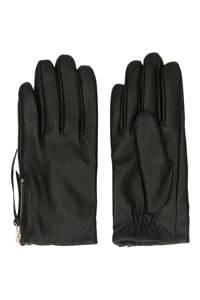 Sacha leren handschoenen zwart, Zwart