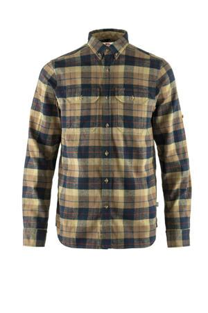 flanellen overhemd Singi Heavy bruin/donkerblauw