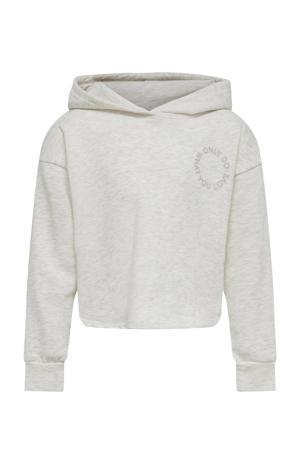 hoodie KONCOMFY met logo beige