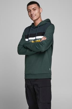 hoodie met logo donkergroen