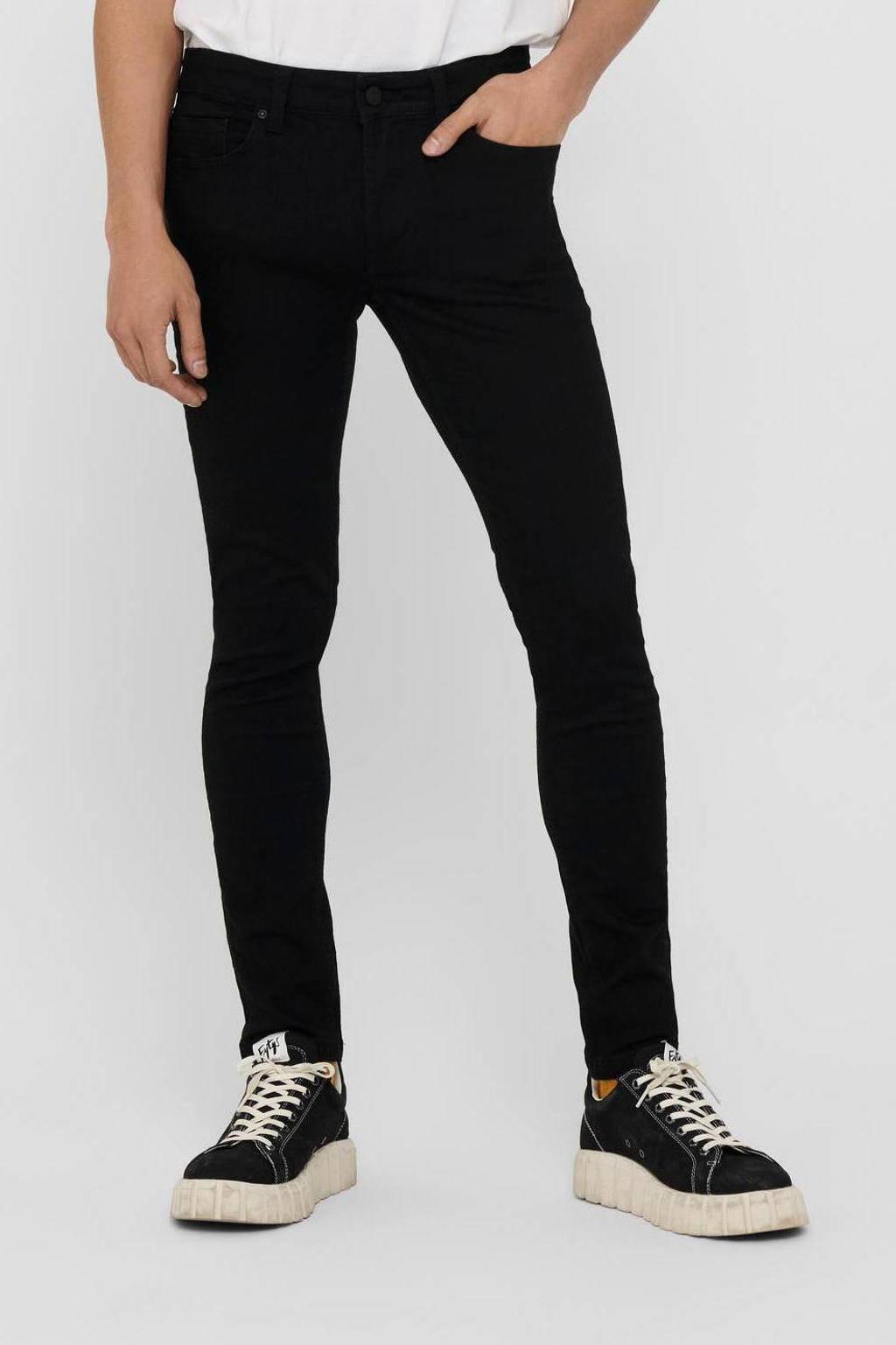 ONLY & SONS skinny jeans Onswarp life met biologisch katoen zwart, Zwart