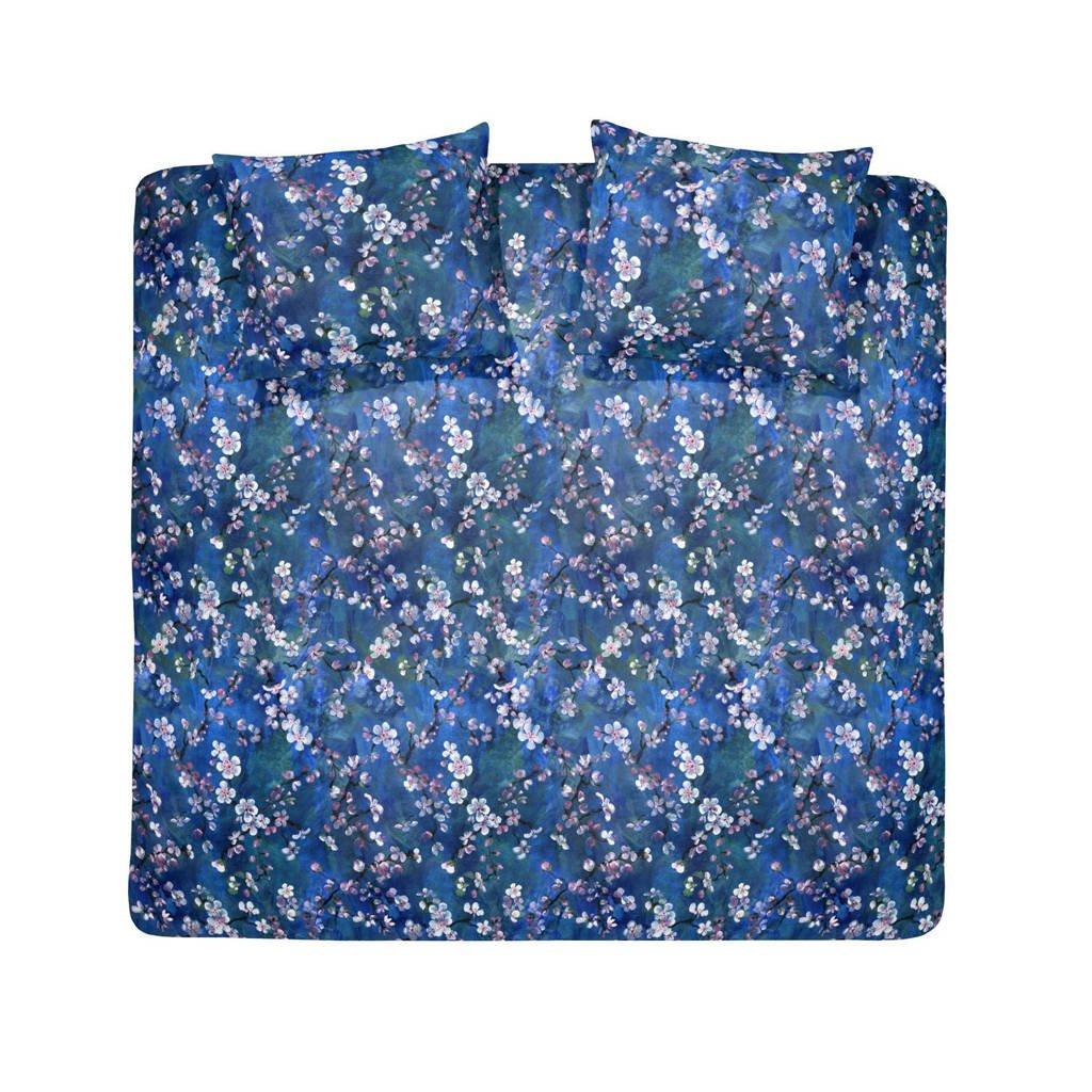 Damai katoenen dekbedovertrek 2 persoons, Blauw, 2 persoons (200 cm breed)