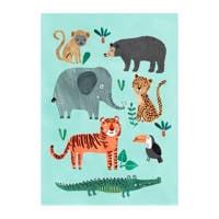 Petit Monkey poster (50x70 cm)  ( cm), Multi