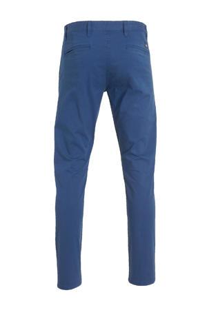 slim fit chino Alpha Original Khaki blauw
