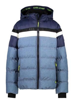 gewatteerde winterjas Byram lichtblauw/donkerblauw/wit