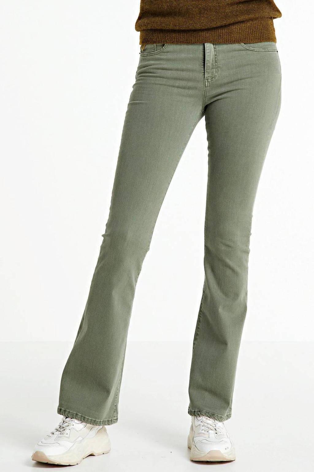 Lois flared jeans, Groen