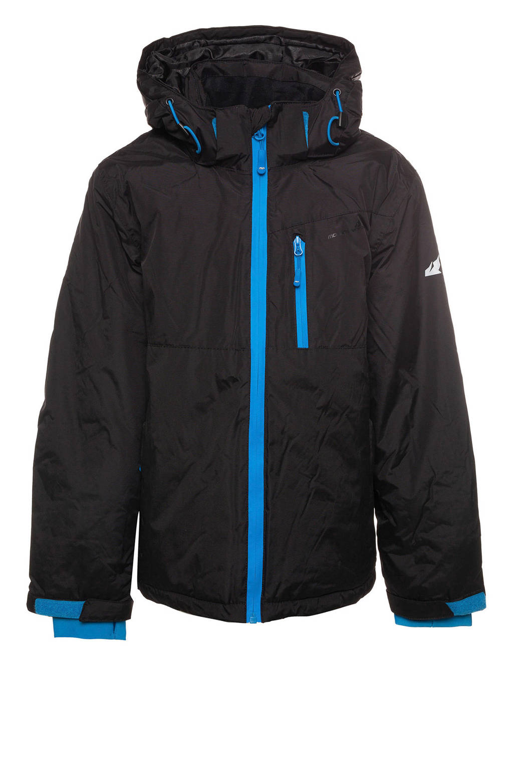 Scapino Mountain Peak ski-jack zwart/blauw, Zwart