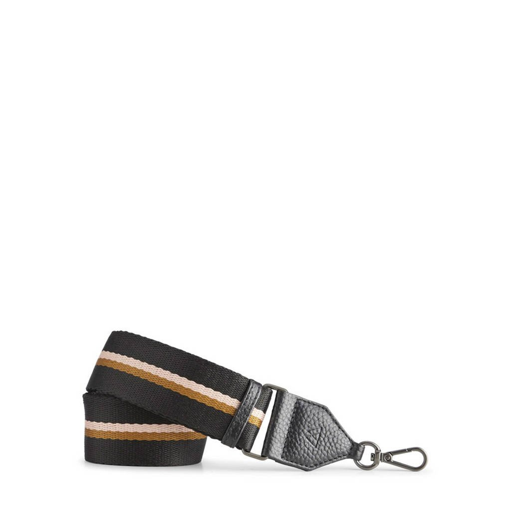 Markberg schouderband Finley zwart/bruin/roze, Zwart/bruin/roze