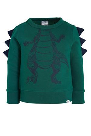 sweater met dierenprint groen