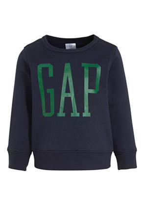 sweater met logo blauw
