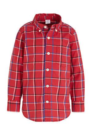 geruit overhemd Poplin rood